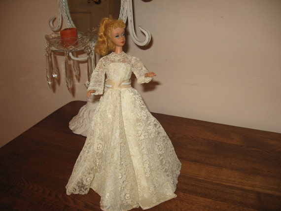 Barbie Doll Wedding Dress Vintage Handmade Clothes Barbie