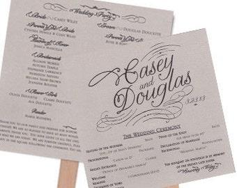 Fan Wedding Program Shimmer Square Wedding Program 2 Sheets