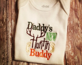 Daddy's New Huntin Buddy Bodysuit