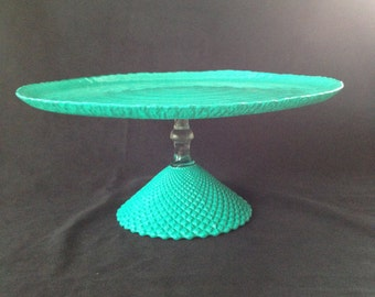 SOLD-Retro Inspired Blue Cake Stand