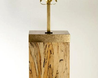 Spalted Tamarind Lamp with Brass Hardware, Handmade, Custom, One-of-a-Kind, Hand Carved