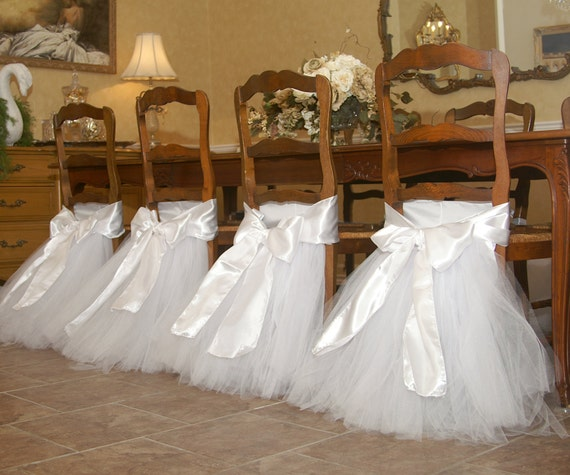 Handcrafted Chair Tutus For Your Wedding Or Bridal Table