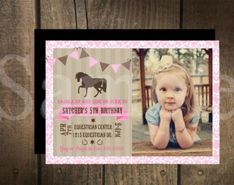 Custom Vintage Pony Invitation