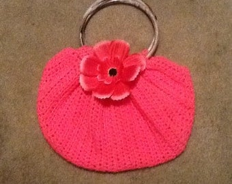 "Crocheted ""SWAG BAG"" or ""Fatbottom Bag""  Purse"