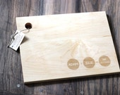 Custom Engraved Wood Cutting Board - Circular Family Addition Design