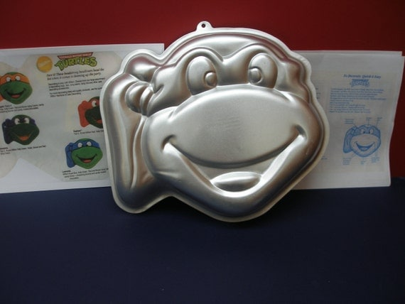 1991 Tmnt Wilton Mirage Studios Turtles Cake Pan Teenage