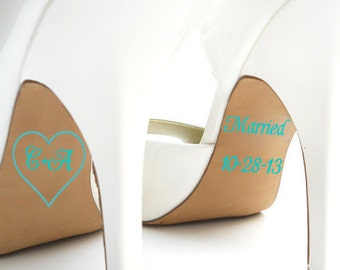 Personalized Bridal Accessories - Personalized Wedding Shoe Stickers