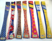 reversible, fabric, tie-headband - w/patch look on one side (snz)