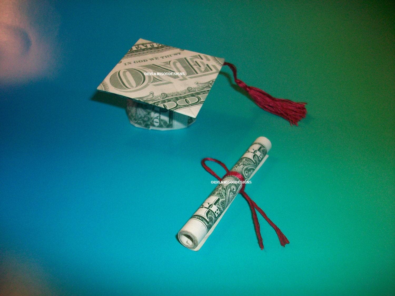 Money Origami GRADUATION CAP & DIPLOMA Great Gift Idea-The - photo#9