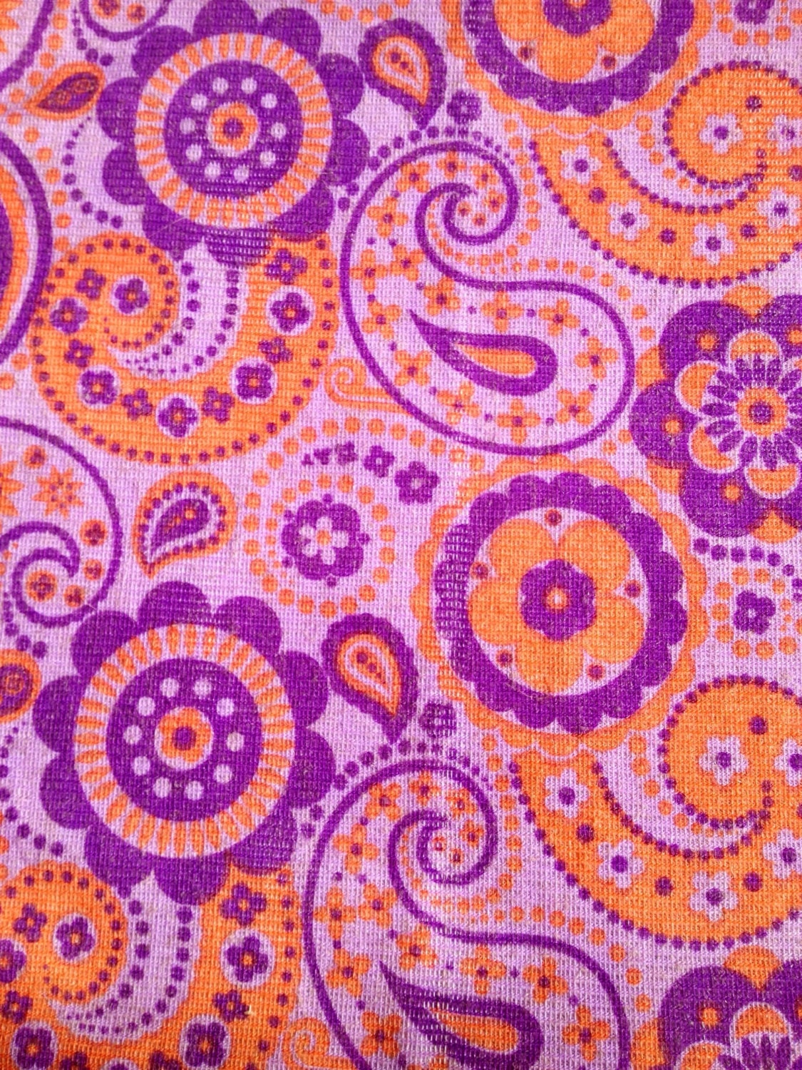 Funky 70s vintage fabric. Mod with retro flowers. Made in
