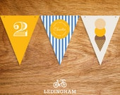 Ice Cream Party Theme Bunting Flags (Personalised Printables)