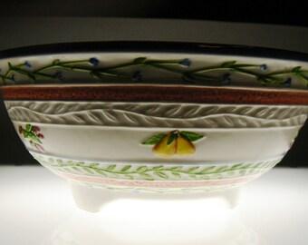 Vintage Ceramic Fruit Colander Fresh & Fruity 1991