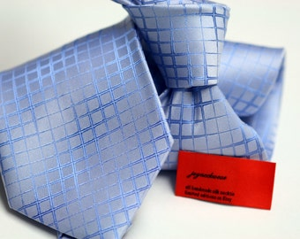 Silk Tie (3.5 inch) in Solids with Blue on Blue