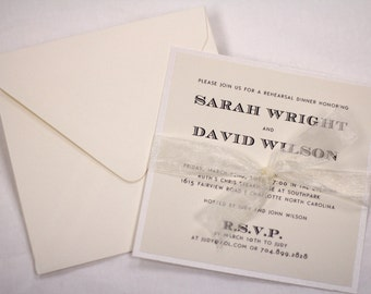 Elegant Rehearsal Dinner Invitations // Purchase this Deposit Listing to Get Started