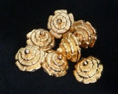 Replica Tudor Gold-Plated Dudley Buttons for Renaissance/Elizabethan Reenactment