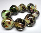 Lampwork. Elven saga. Set of beads.