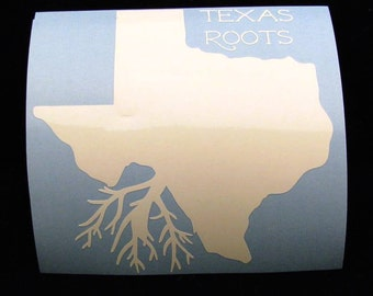 Texas Roots Car Decal