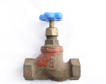 Vintage water faucet. Made in USSR 70s. Cast iron