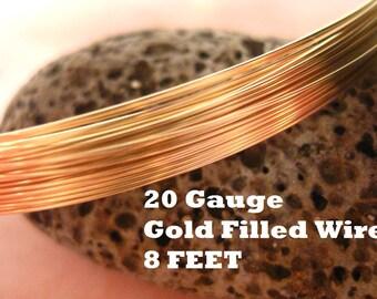 14K Gold Filled 20 Gauge Round Wire Half Hard 14/20GF 8 FEET