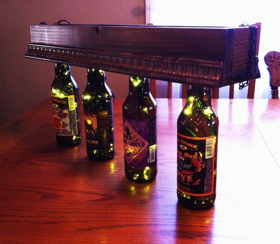 Custom Beer Bottle Hanging Light . Collectible Craft Beer