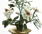 Vintage Bonsai Tree in Jade Onyx and Coral
