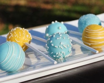 Light Blue & Yellow Signature Cake Pops