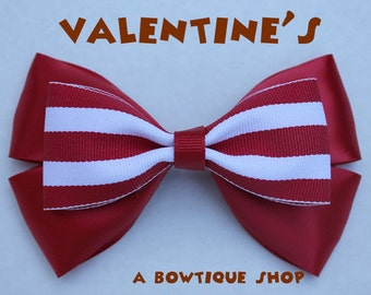 valentine's hair bow