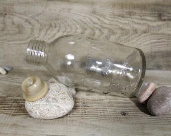 Vintage Glass Medical Bottle 500 ml