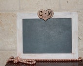 Personalized Wedding chalkboard 5x7, Rustic Wedding, Sign Photo Prop, Rustic Chalkboard Frame, Table Numbers, monogrammed