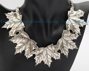 Womens Leaf Necklace