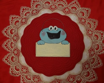 Wooden Cookie Monster Sign