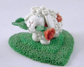 I Love Ewe - Romantic Sheep with a Rose