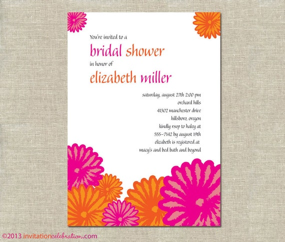 Around The Clock Wedding Shower Invitations as adorable invitation sample