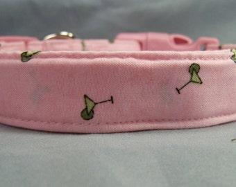 Preppy Pink Martini Dog Collar