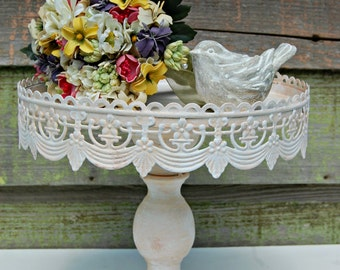 """Shabby Chic, Rustic 10""""  Pedestal Cake Stand - Your choice of color"""
