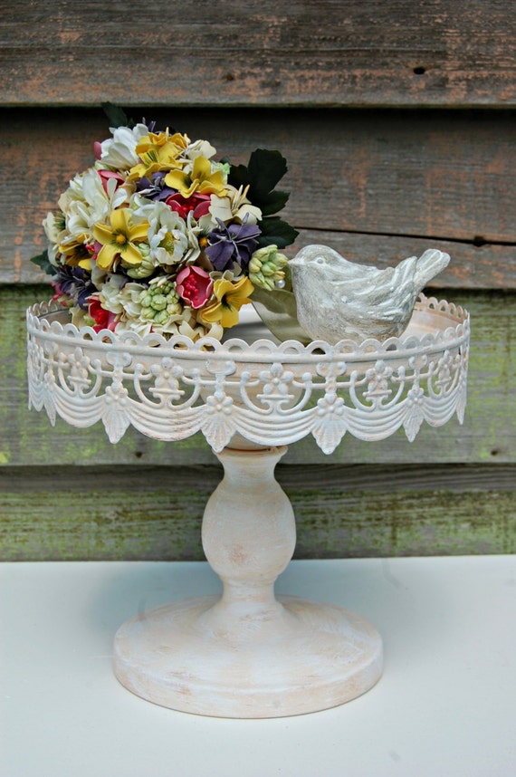 shabby chic wedding cake stand shabby chic rustic 10 pedestal cake stand your 19769