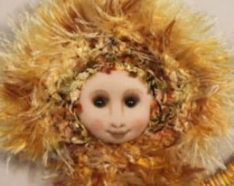Art doll - Imaginary in Gold - OOAK