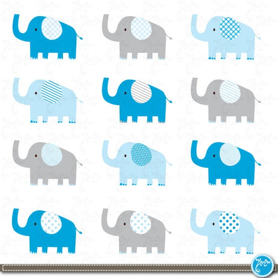 "Items similar to Elephant Clip Art: ""CUTE ELEPHANT ..."
