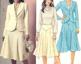 BUTTERICK :B4933 UNCUT   Misses Unlined Jacket and Flare Skirt Pattern