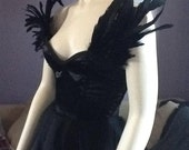 "Evil Queen"" Corset Gown - LadyVioletDesigns"