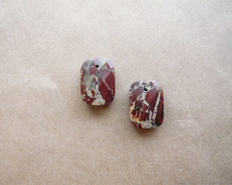 Tiny Faceted Jasper Drops