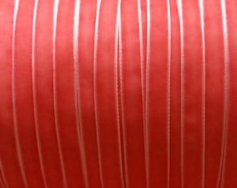 10 yards 3/8 inches Velvet Ribbon in Coral Rose RY38-15