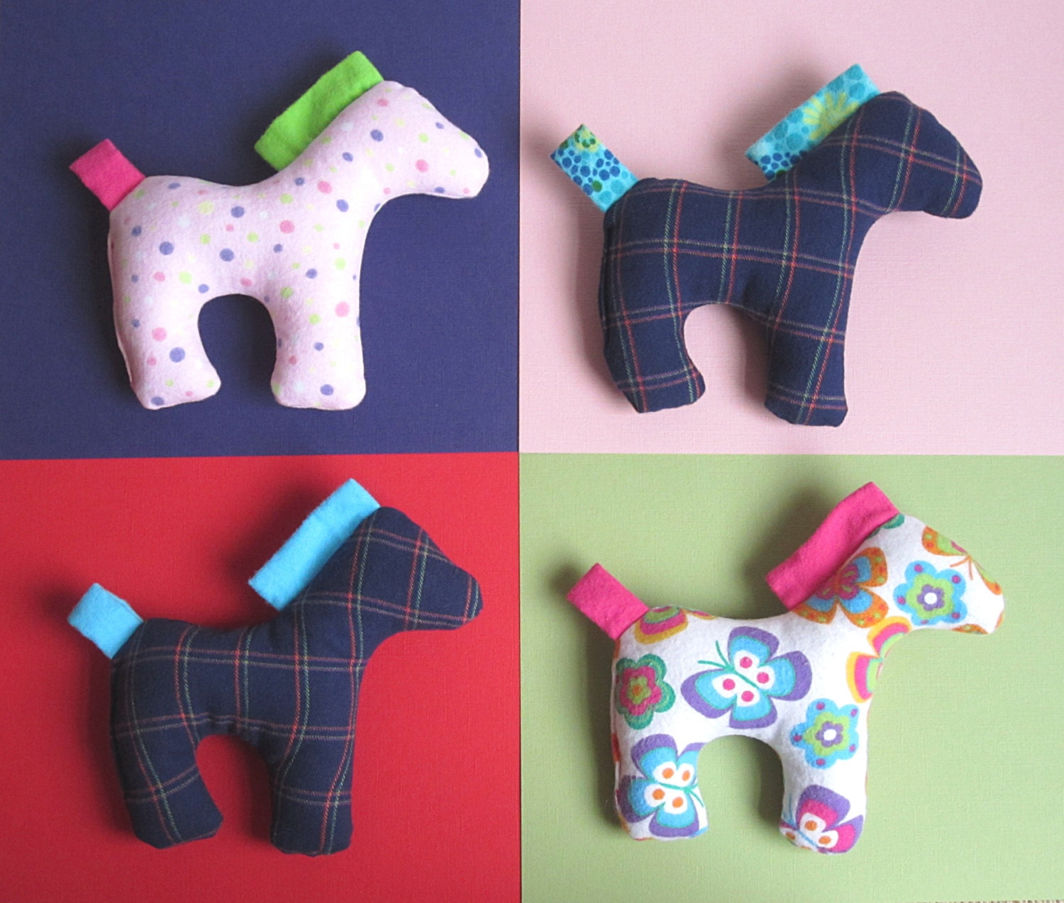 Dixie the horse pattern pdf sewing pattern for stuffed horse for Horse fabric for kids