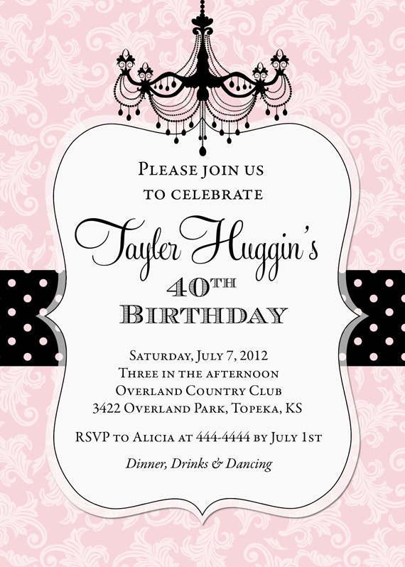 Birthday Invitation Printable Any Colors By Party Pop Catch My