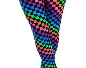 Rainbow Checkered Leggings