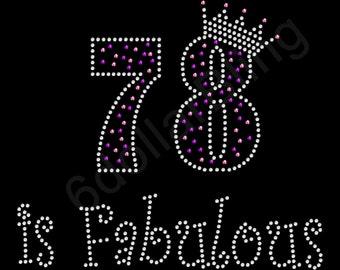 78th Birthday Etsy