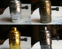 1 antique vintage edison style light bulb electric light socket UL listing