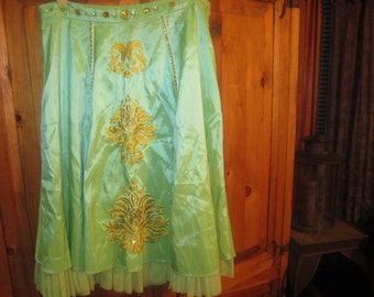 Womens Ornate Decorated Skirt Size 10
