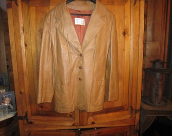 70s Vintage Disco Leather Jacket