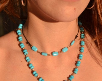 Sterling Silver Turquoise Necklace  - Valentine